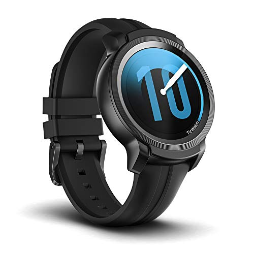 Ticwatch Montre connectée Mobvoi E2, Smartwatch de Fitness sous Google Wear OS, Étanchéité 5 ATM et adaptée à la Natation, Compatible avec iPhone et Android Shadow
