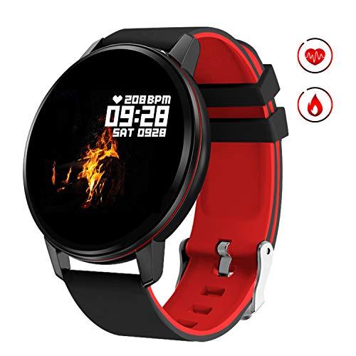 GOKOO Montre Intelligente Étanche Montre Connectée Homme Femmes Bluetooth Sport Bracelet Fitness Tracker d'Activité Moniteur de Fréquence Cardiaque Sommeil Podomètre Chronomètre pour Android iOS